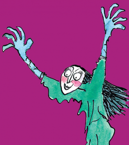 "The Grand High Witch from ""The Witches"" by Roald Dahl. Image by Quentin Blake"